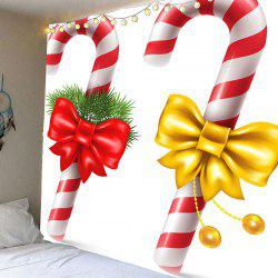 Christmas Candies Cane Patterned Wall Art Tapestry -