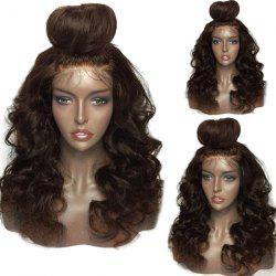 Long Free Part Shaggy Loose Body Wave Lace Front Human Hair Wig -