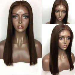 Long Center Part Straight Lace Front Human Hair Wig -