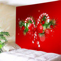 Christmas Candy Cane Print Tapestry Wall Hanging Art Decoration