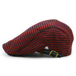 Stripe Pattern Embellished Adjustable Cabbie Hat -