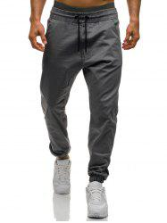 Beam Feet Drawstring Waist Jogger Pants -