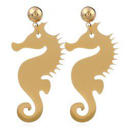 Metal Hippocampus Earrings -