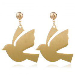 Alloy Pigeon Fly Bird Drop Earrings -