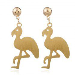 Metal Flamingo Drop Earrings -