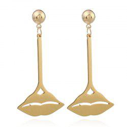 Alloy Lips Earrings -