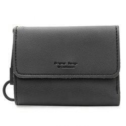 Faux Leather Tri Fold Card Holder -