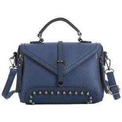 Faux Leather Studs Crossbody Bag -