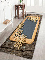 Christmas Woodgrain Tree Pattern Anti-skid Water Absorption Area Rug -