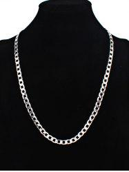 Vintage Stainless Steel Chain Necklace -