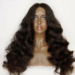 Lace Front Shaggy Middle Part Long Loose Wave Synthetic Wig -