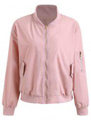 Drop Zipper Plus Size Veste -