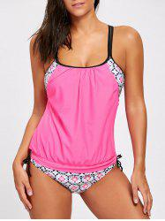 Printed Cross Back Blouson Swimsuit -