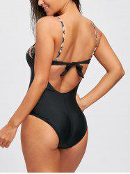 Underwire Spaghetti Strap Backless Swimsuit -