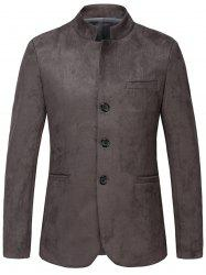 Vintage Single Breasted Suede Blazer -