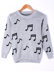 Music Notes Marled Sweater -