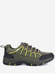 Mesh Suede Panel Sports Outdoor Hiking Shoes -