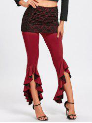 Step Hem Ruffle Skirted Pants -