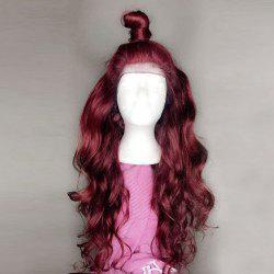 Long Free Part Fluffy Body Wave Lace Front Synthetic Wig -