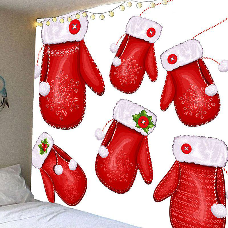 Chic Christmas Gloves Patterned Wall Hanging Tapestry