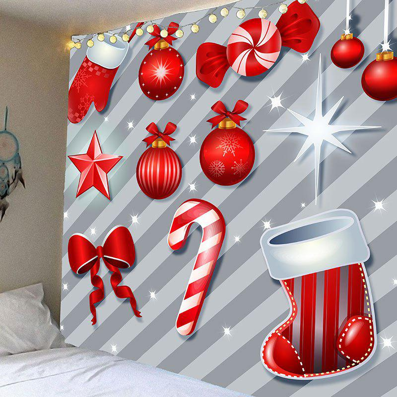 Christmas Candies.Christmas Candies Balls Patterned Tapestry Wall Art