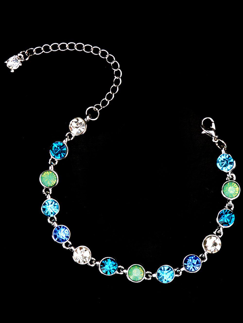 Rhinestoned Sparkly Chain BraceletJEWELRY<br><br>Color: SILVER; Item Type: Chain &amp; Link Bracelet; Gender: For Women; Chain Type: Link Chain; Material: Rhinestone; Style: Trendy; Shape/Pattern: Round; Length: 23CM; Weight: 0.0300kg; Package Contents: 1 x Bracelet;