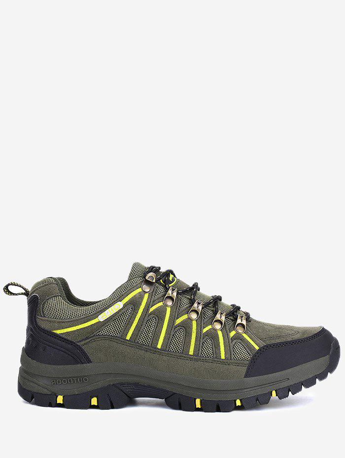 Buy Mesh Suede Panel Sports Outdoor Hiking Shoes