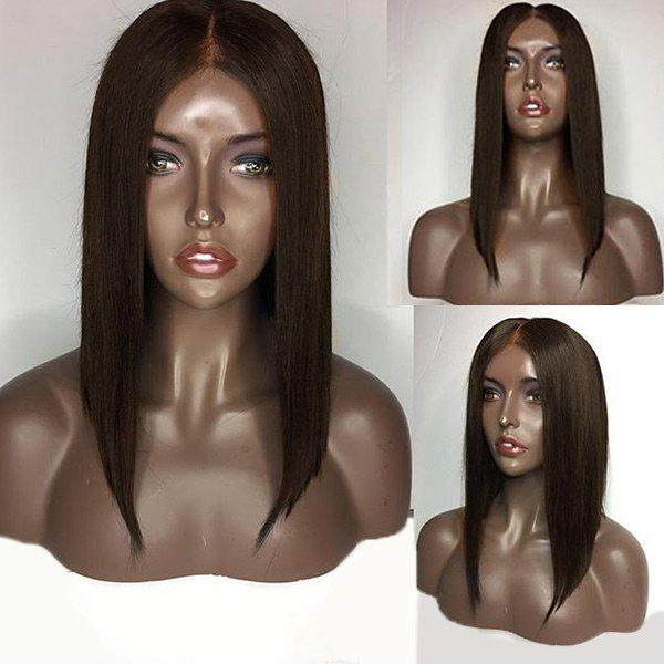 Medium Center Part Straight Bob Lace Front Human Hair Wig 220230702