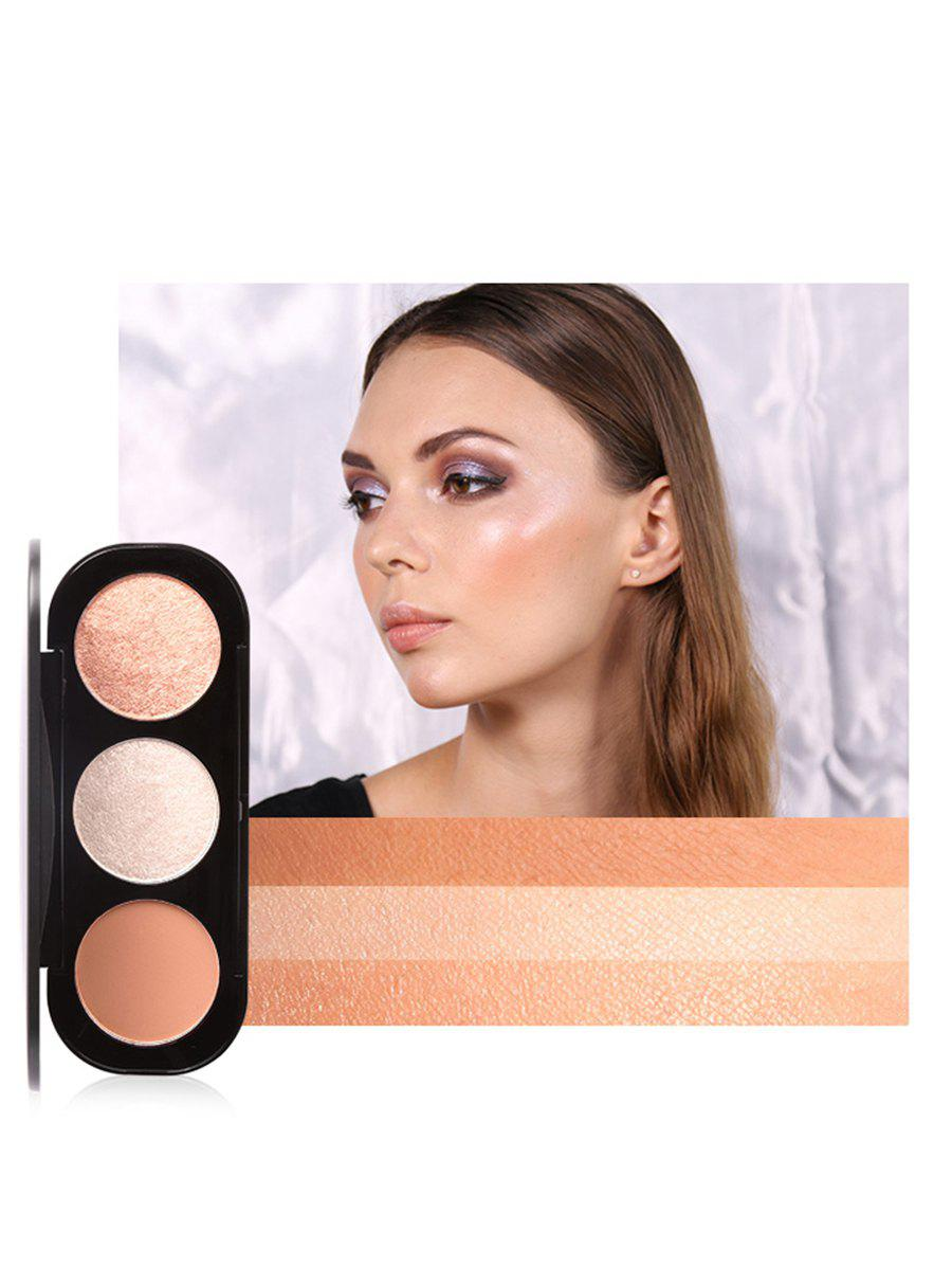 Online Multifunctional 3 Colors Highlight and Blush Travel Makeup Kit