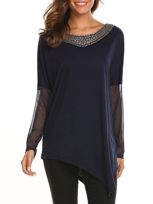 Outfits Asymmetrical Beaded Panel Blouse
