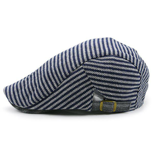Discount Stripe Pattern Embellished Adjustable Cabbie Hat