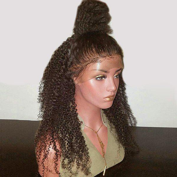 Cheap Long Free Part Shaggy Kinky Curly Synthetic Lace Front Wig