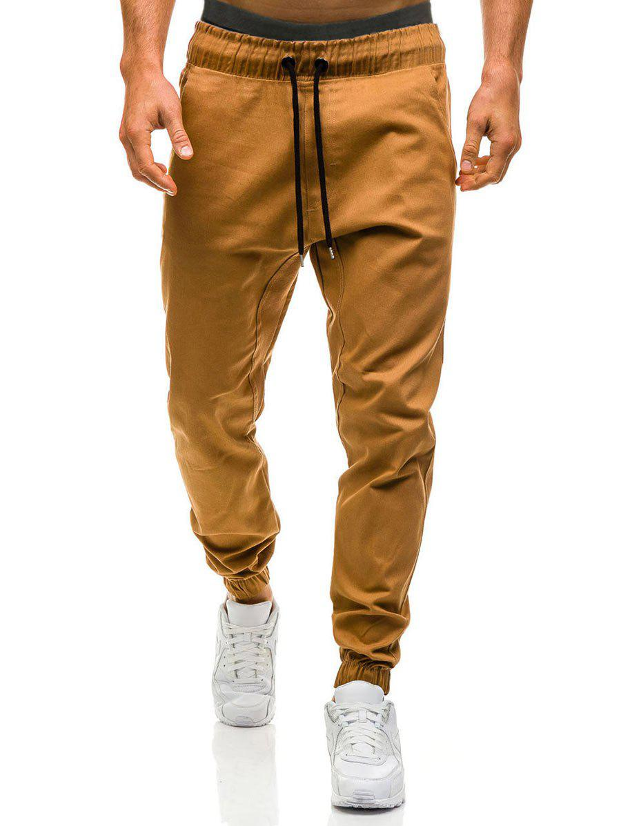 Affordable Beam Feet Drawstring Waist Jogger Pants