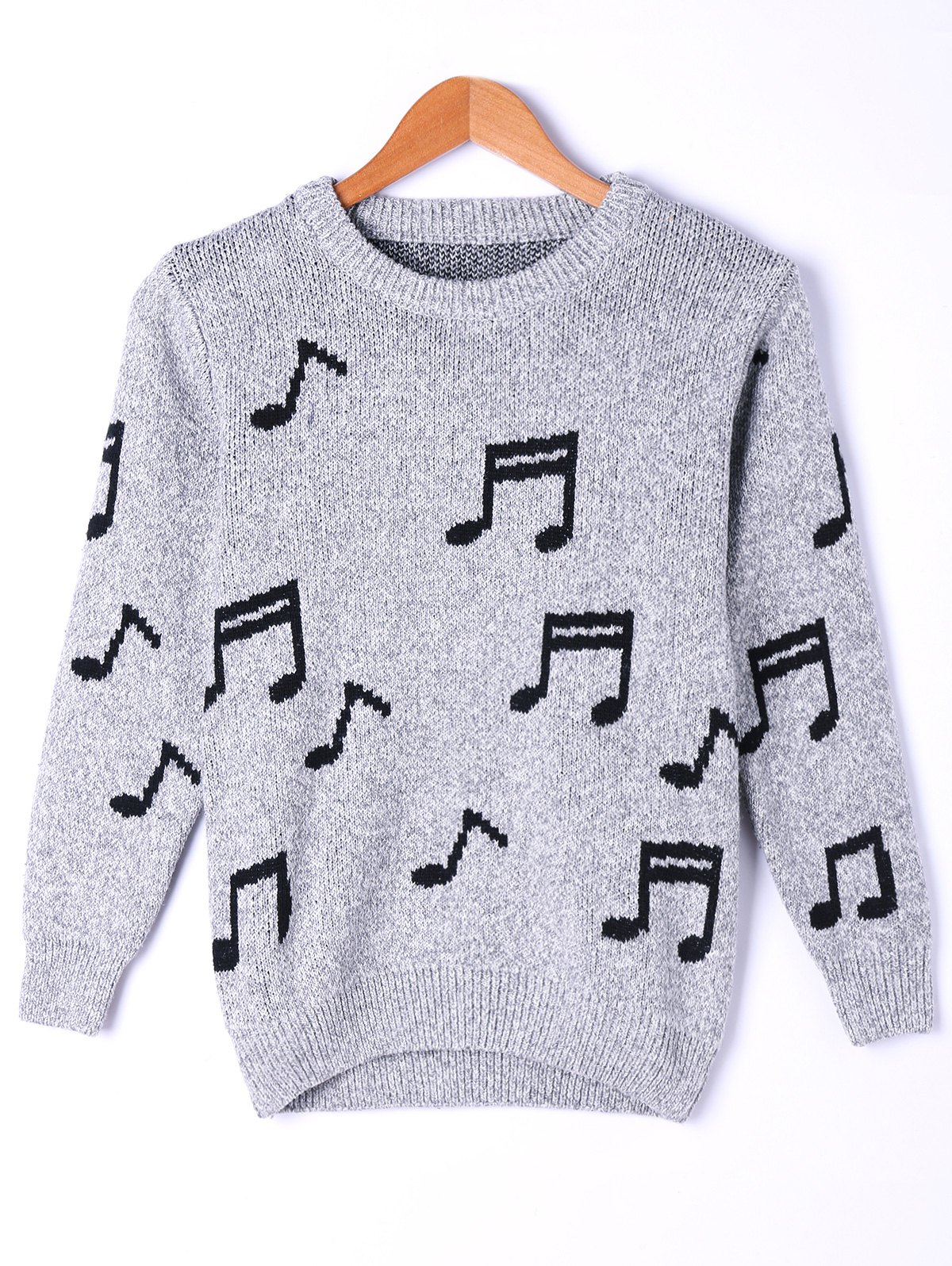 Chic Music Notes Marled Sweater