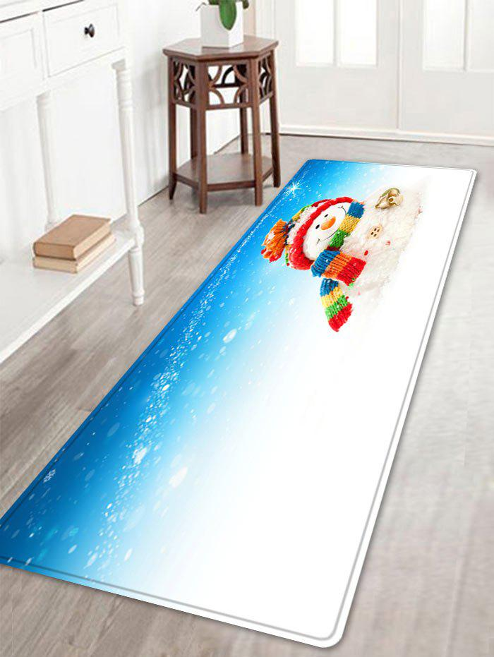 Outfits Christmas Snowman Bell Pattern Anti-skid Water Absorption Area Rug