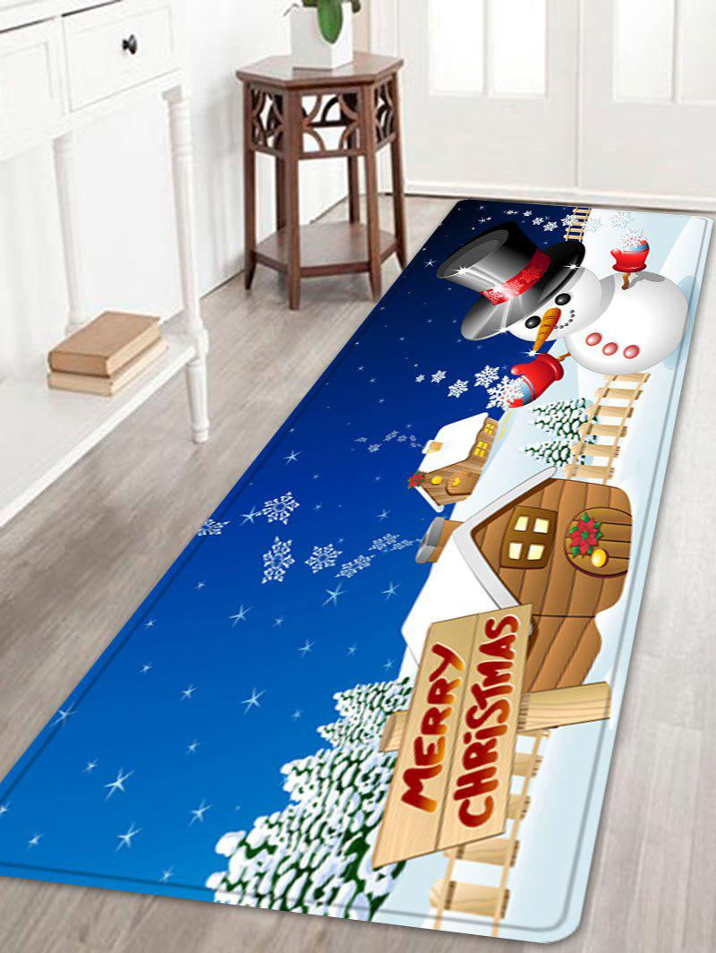 Cheap Christmas Snowman House Pattern Anti-skid Water Absorption Area Rug