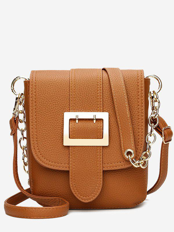 Hot Chain Faux Leather Buckle Strap Crossbody Bag