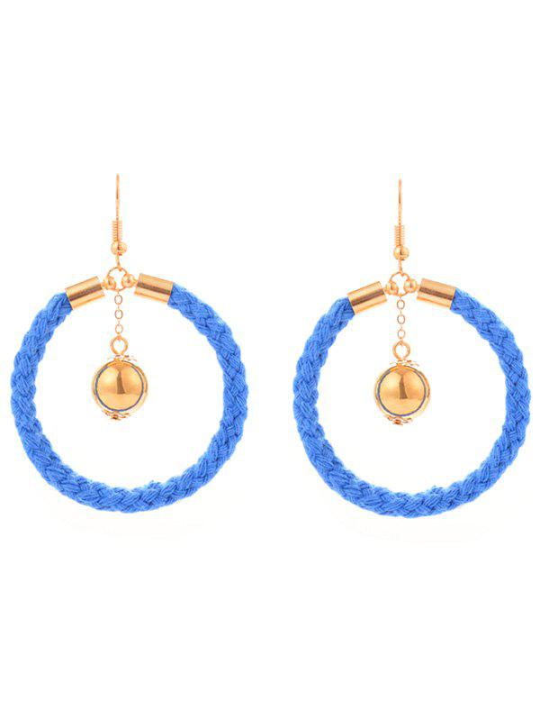 Shops Metal Ball Circle Braid Hook Drop Earrings