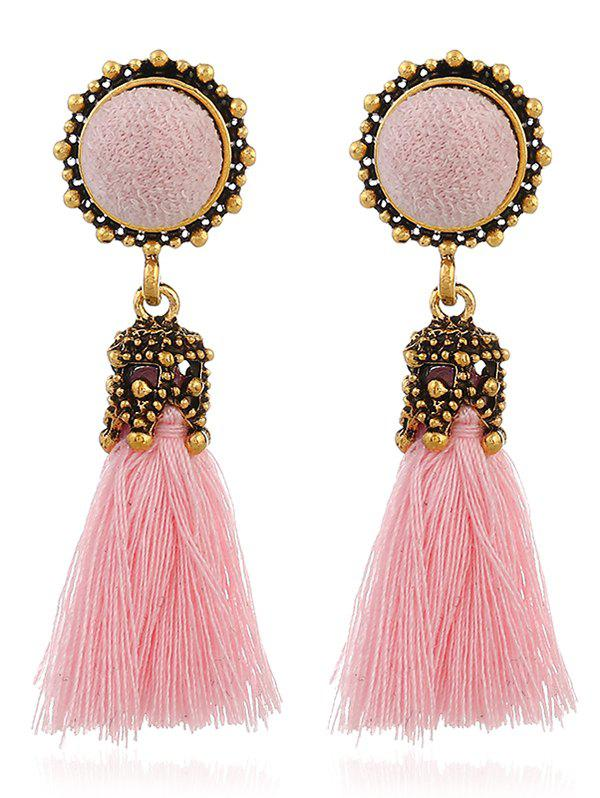 Cheap Vintage Tassel Pompon Drop Earrings