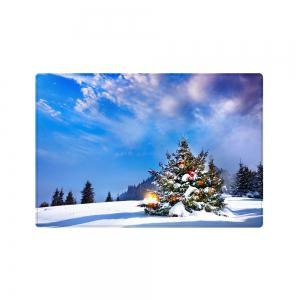 Christmas Tree Forest Pattern Anti-skid Water Absorption Area Rug -