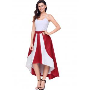 Color Block High Low Maix Jupe -