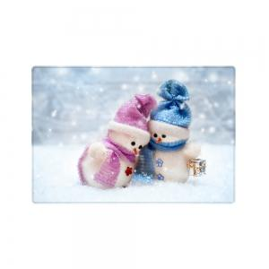 Christmas Snowman Lover Pattern Anti-skid Water Absorption Area Rug -