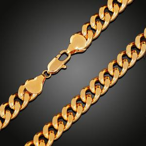 Chunky Alloy Chain Link Necklace -