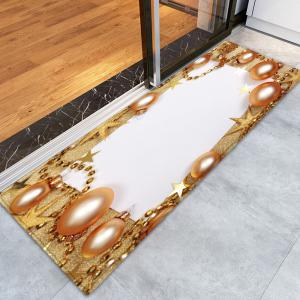 Christmas Balls Chain Pattern Anti-skid Water Absorption Area Rug -