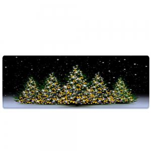 Christmas Trees Night Pattern Anti-skid Water Absorption Area Rug -