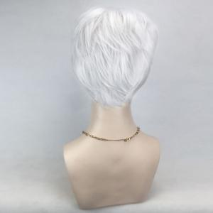 Short Side Bang Layered Straight Cosplay Synthetic Wig -