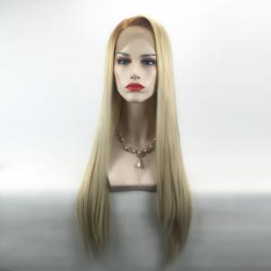 Long Side Parting Straight Ombre Lace Front Synthetic Wig -