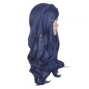 Long Side Bang Braided Wavy Descendants Evie Cosplay Synthetic Wig For Children -