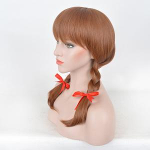 Medium Neat Bang Braids Synthetic Annabelle 2 Cosplay Wig -