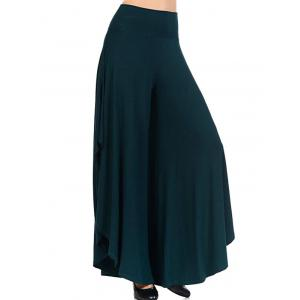 High Waist Flounce Wide Leg Pants -
